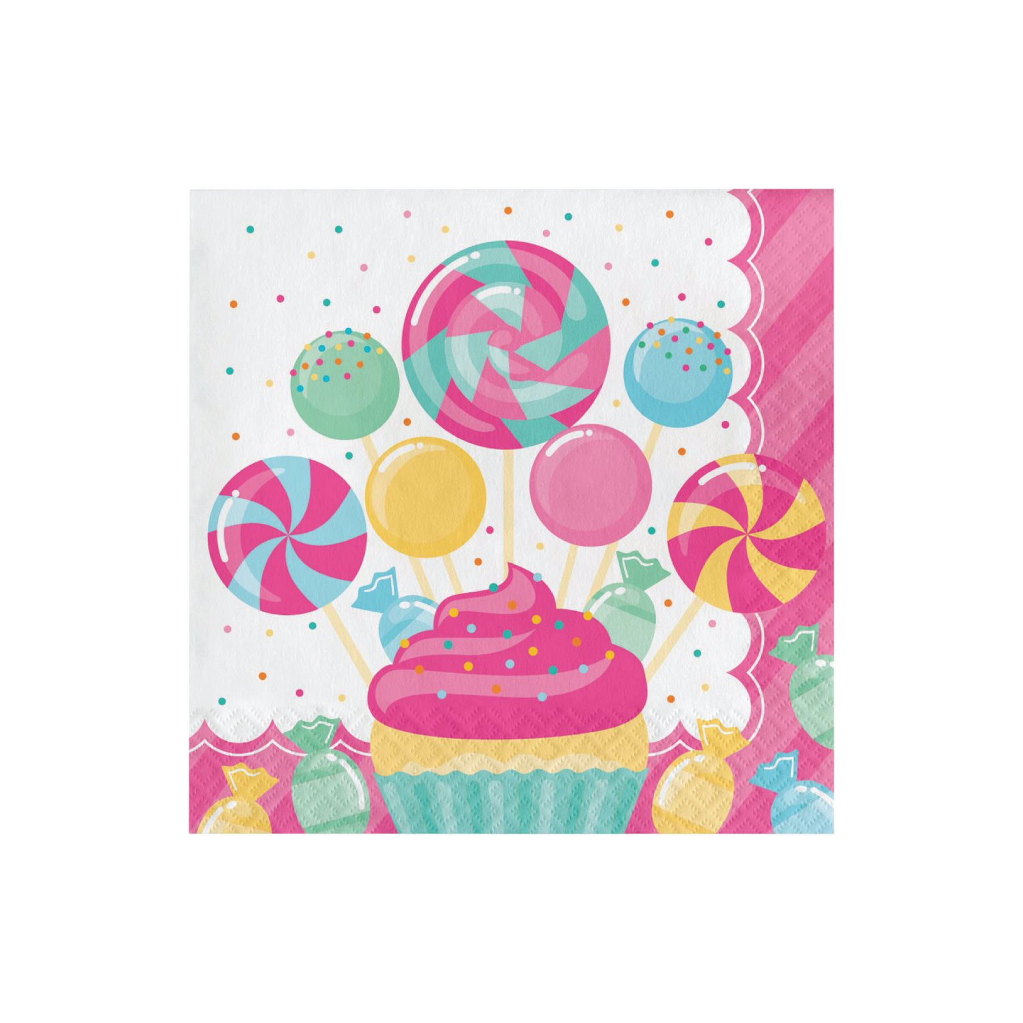 Candy Shop Lunch Napkins 16ct | The Party Darling
