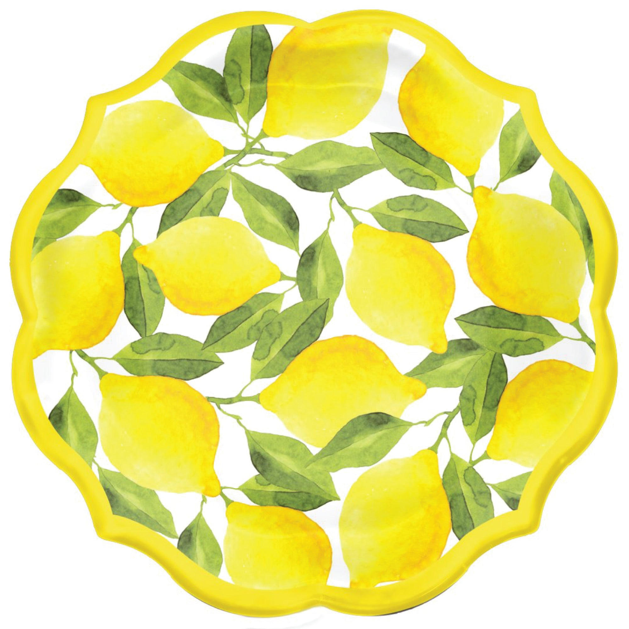 Citrus Lemon Dinner Plates 8ct | The Party Darling