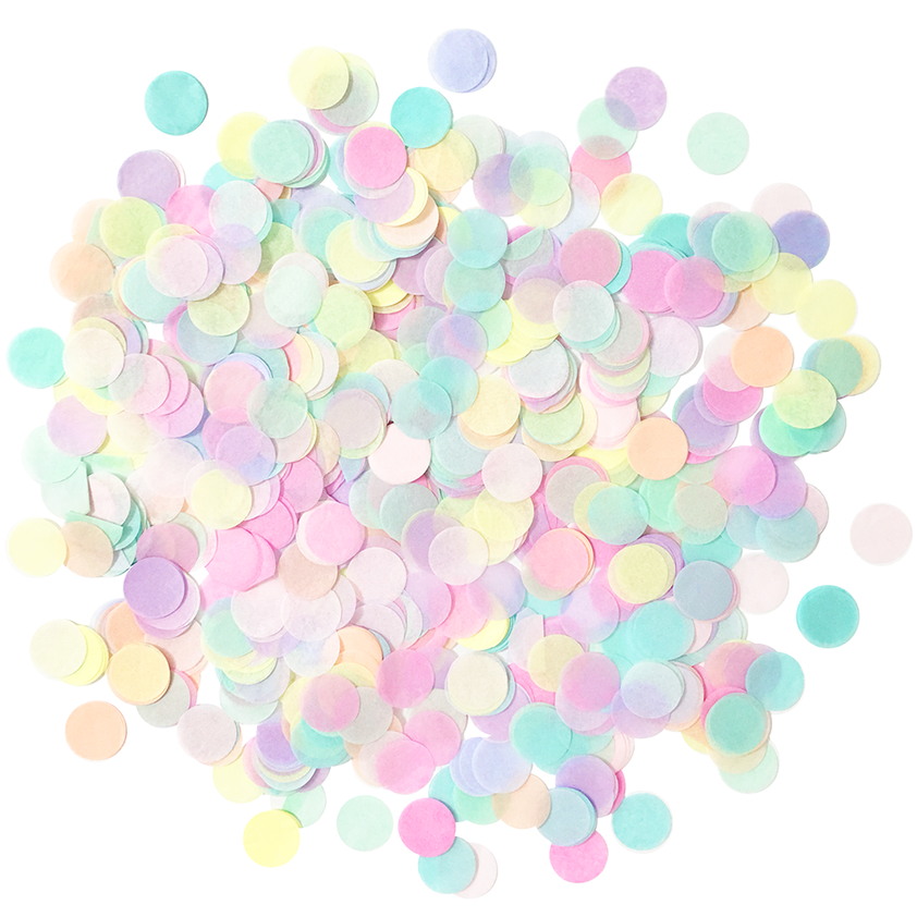 Colorful Pastel Rainbow Confetti Pack .5oz | The Party Darling