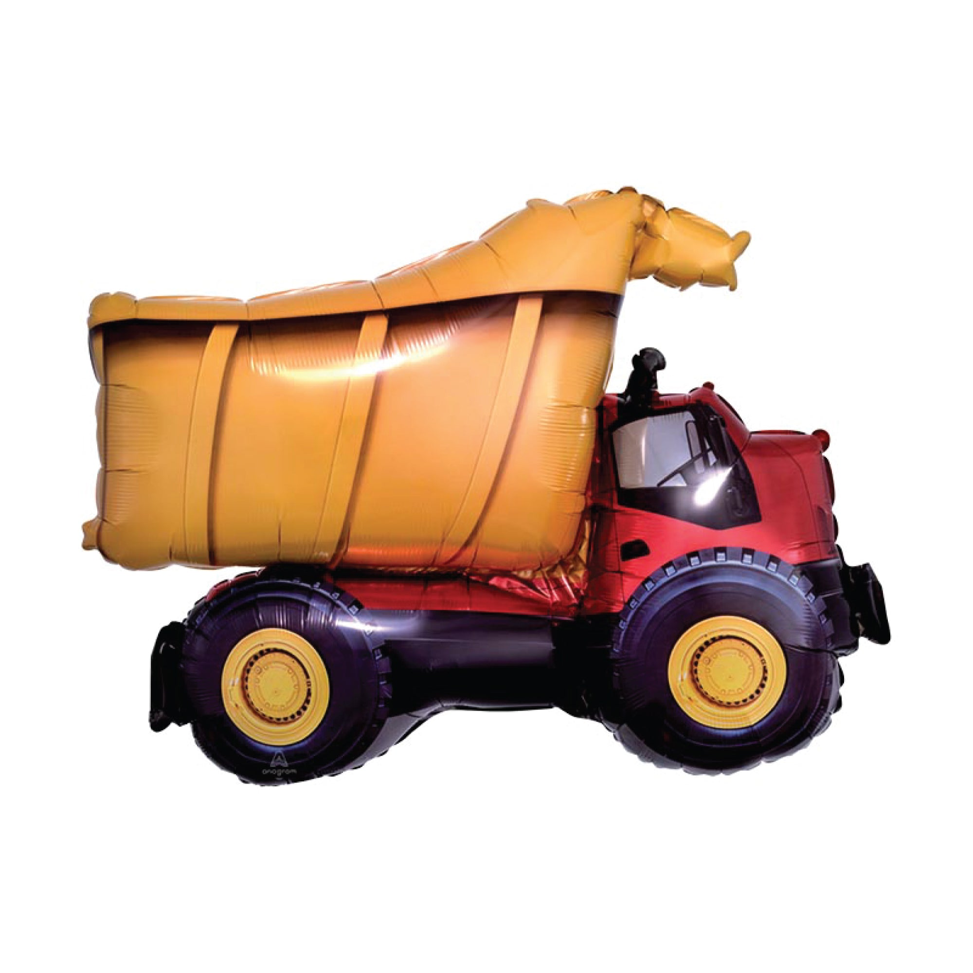 Construction Dump Truck Foil Balloon 32"