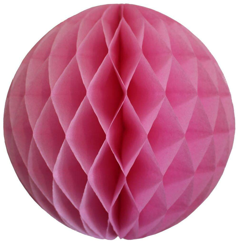 Pink Honeycomb Tissue Ball
