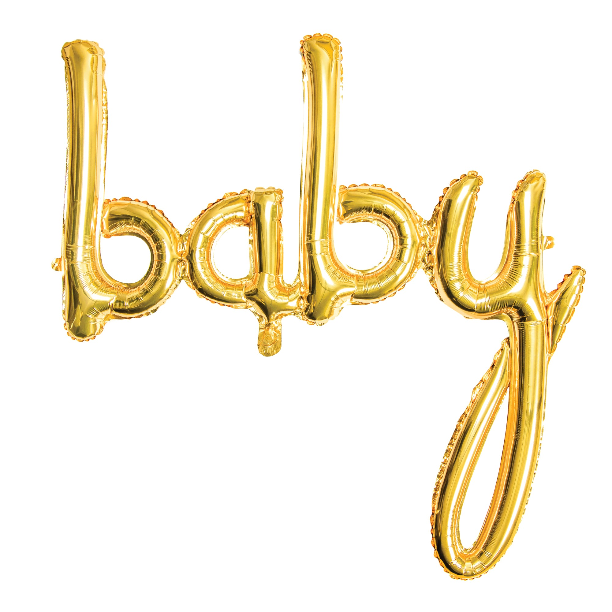 Gold Baby Letter Balloon Banner