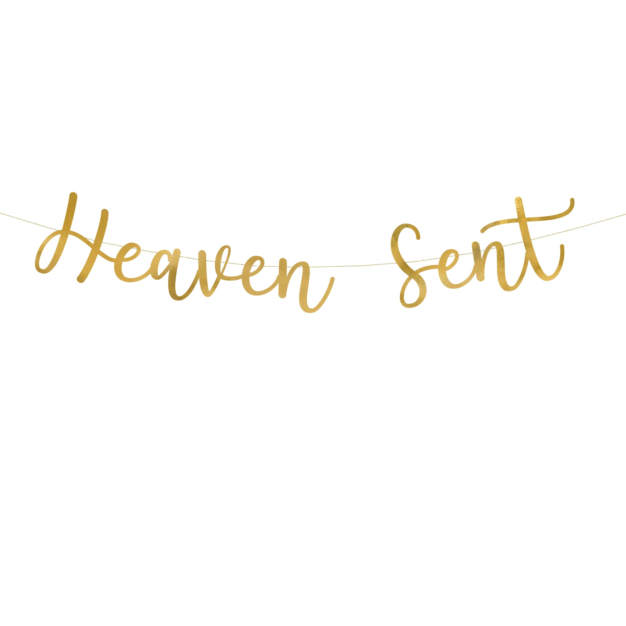 gold heaven sent banner