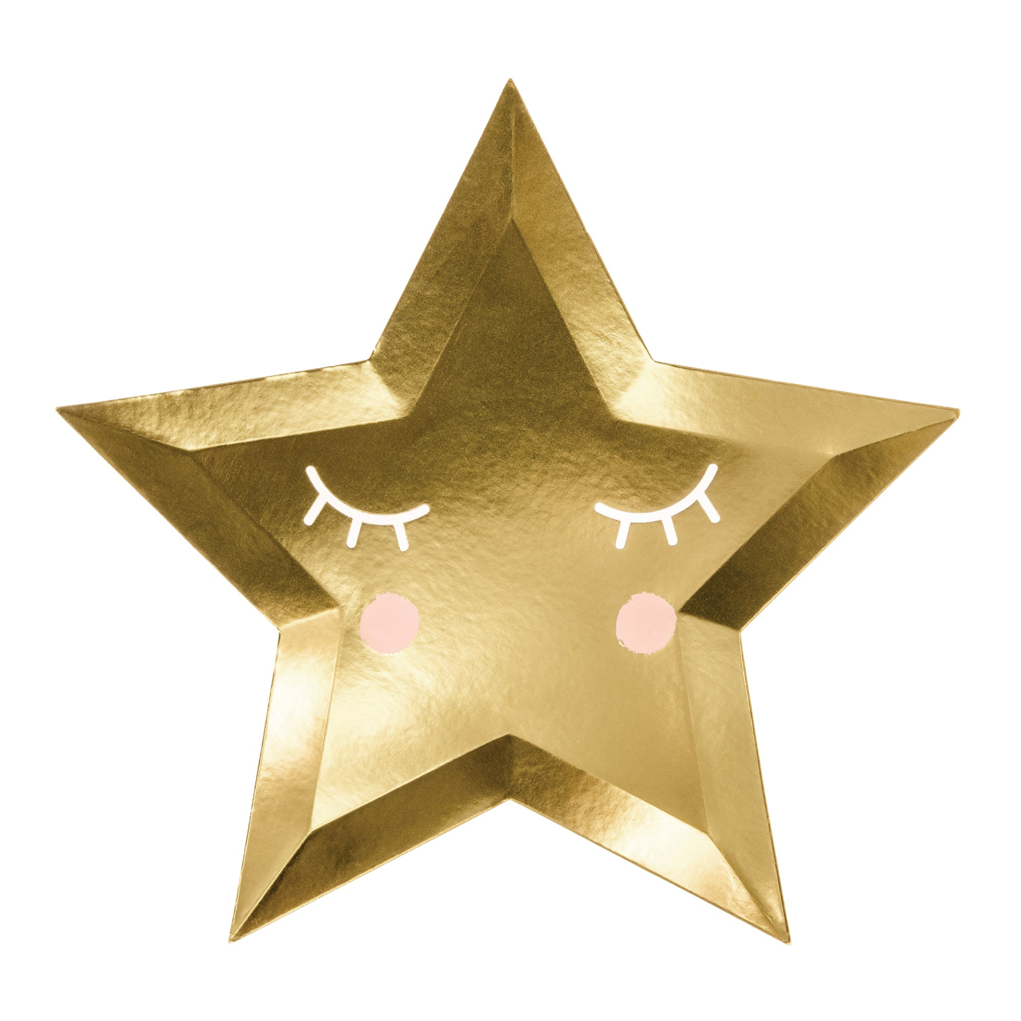 gold little star plates
