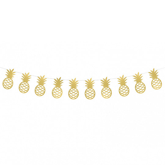 Gold Pineapple Garland 5ft | The Party Darling