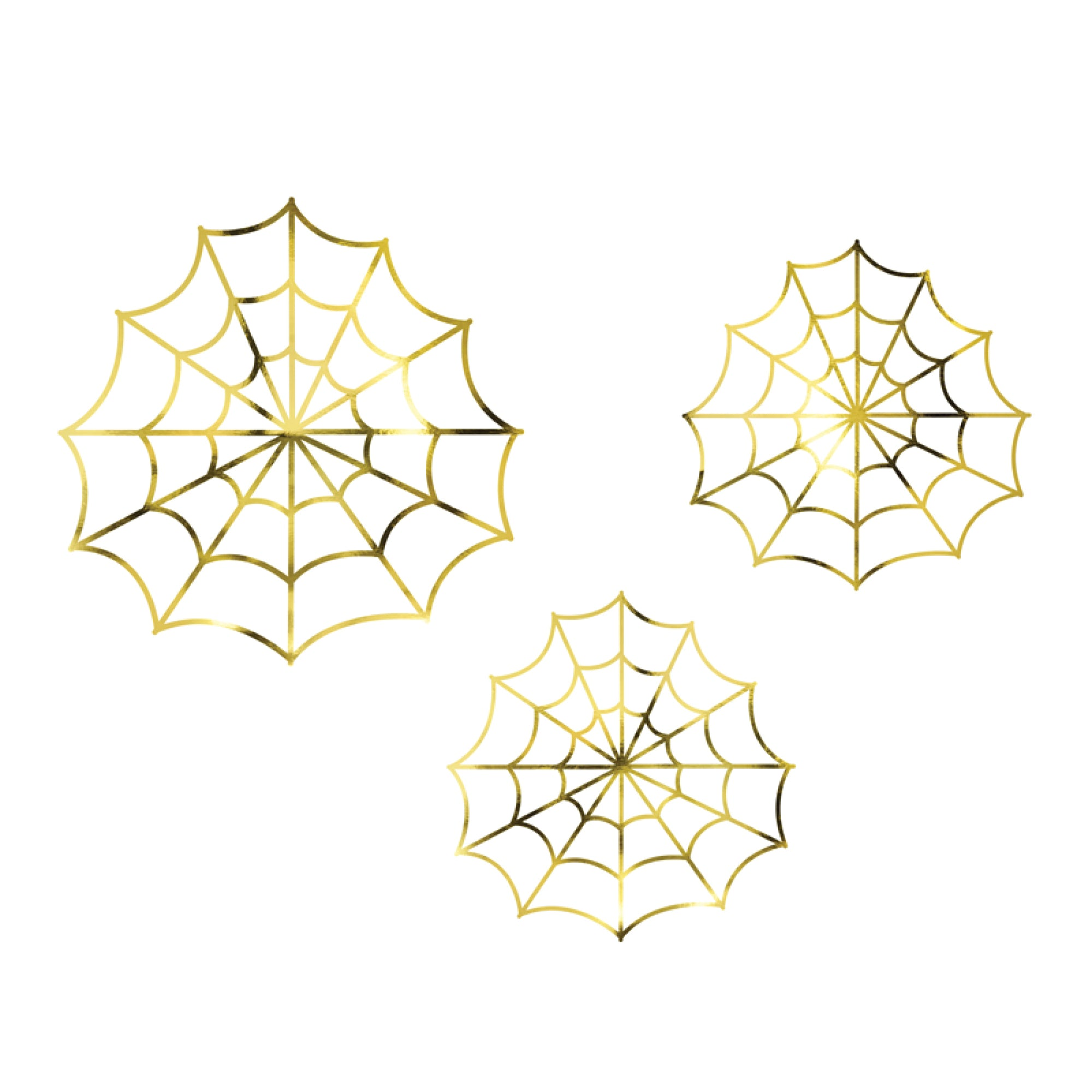 Gold Decorative Spiderwebs | The Party Darling