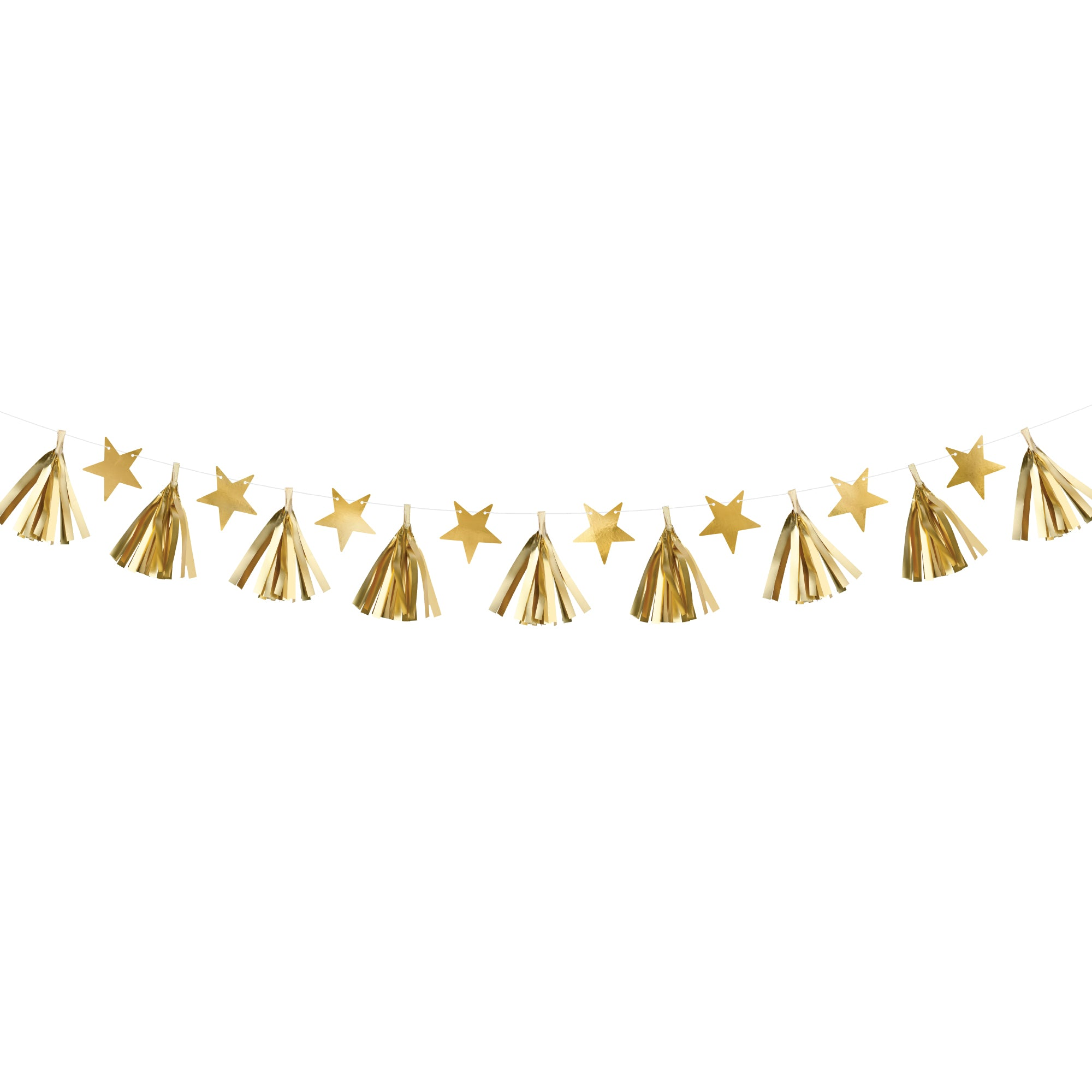 Gold Star & Tissue Garland