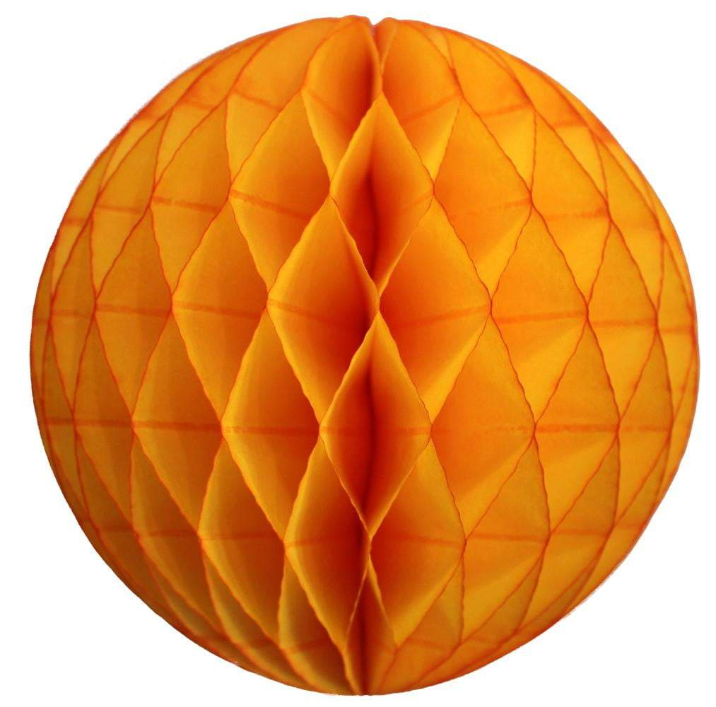 Golden Yellow Honeycomb Tissue Ball