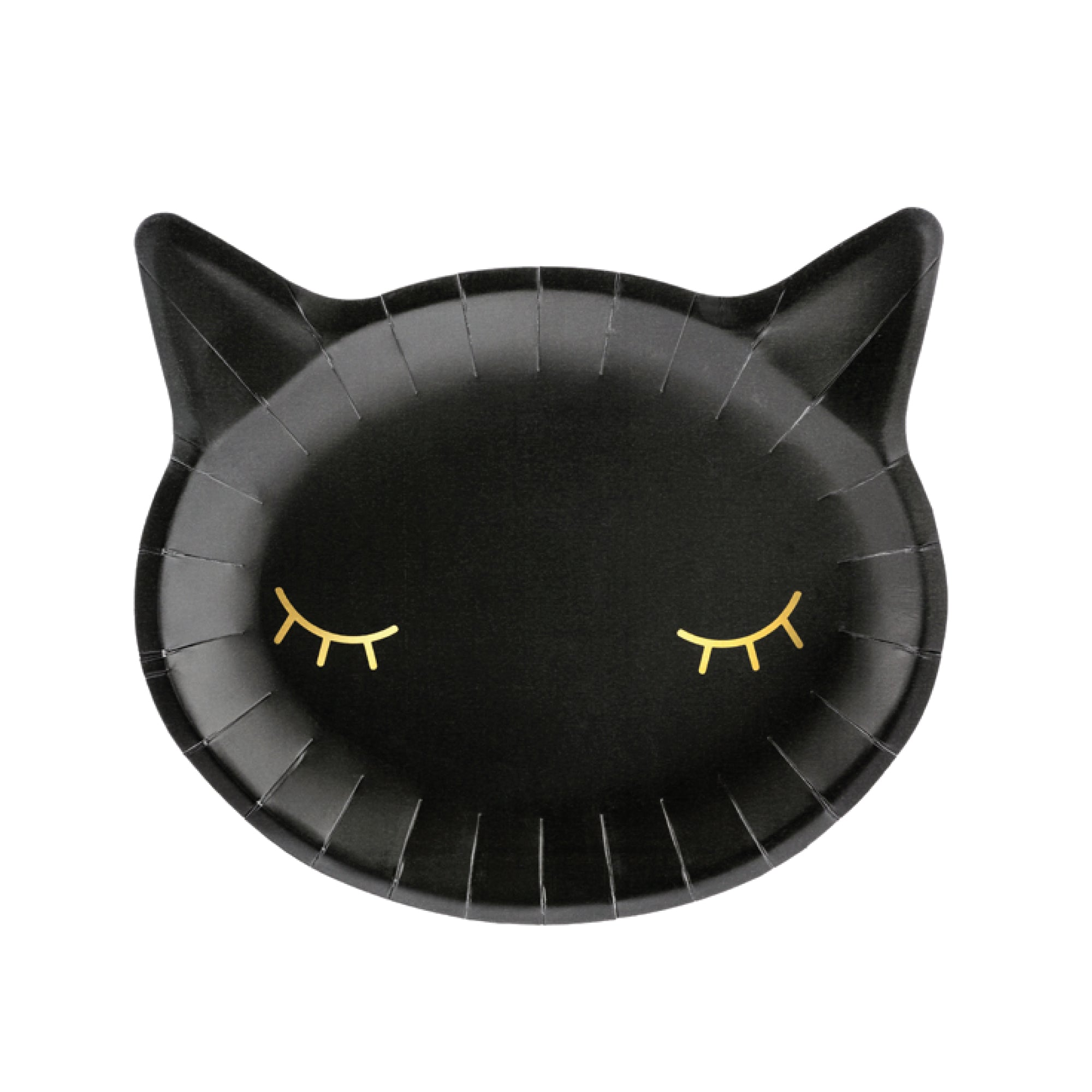 Halloween black cat plates