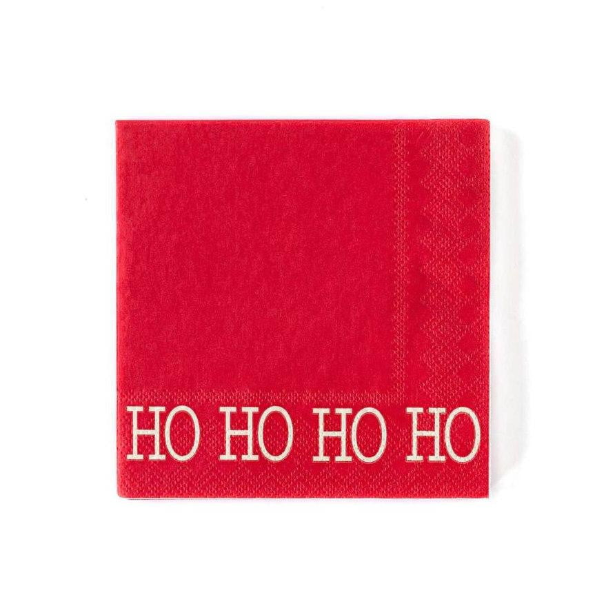 Ho Ho Ho Red Christmas Napkins
