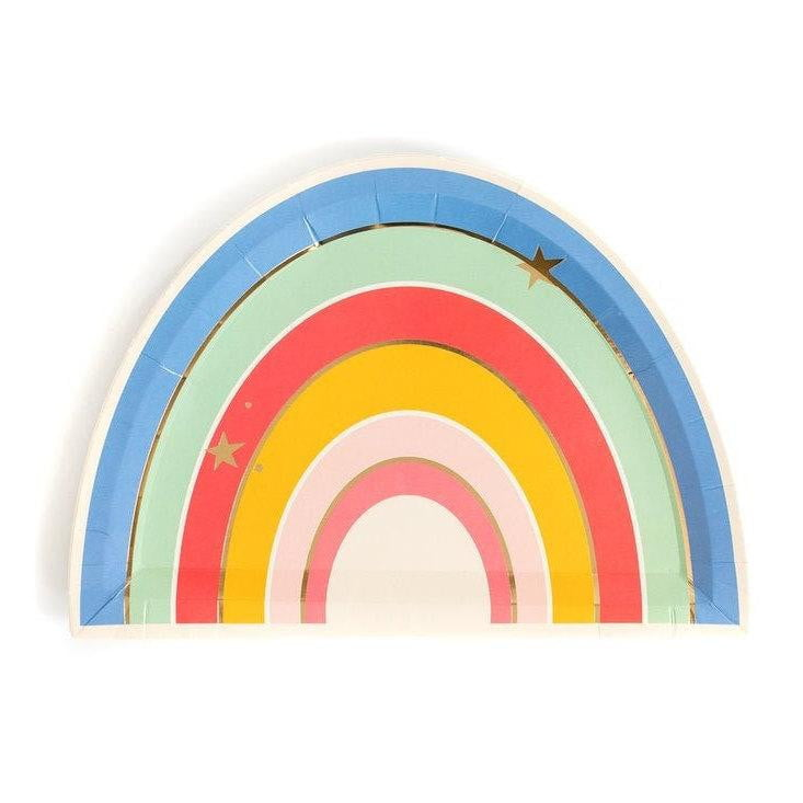 Magical Rainbow Lunch Plates 9""