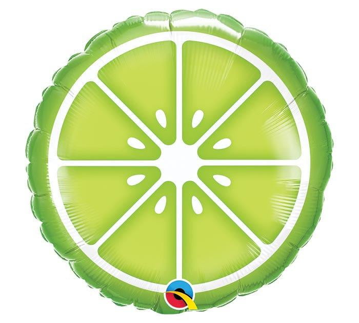 Sliced Lime Balloon 18""
