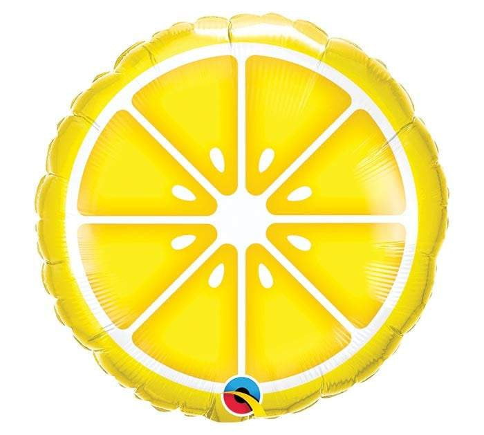 Sliced Lemon Foil Balloon 18""