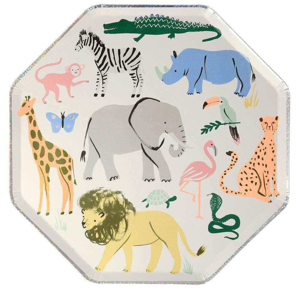 Safari Animals Lunch Plates