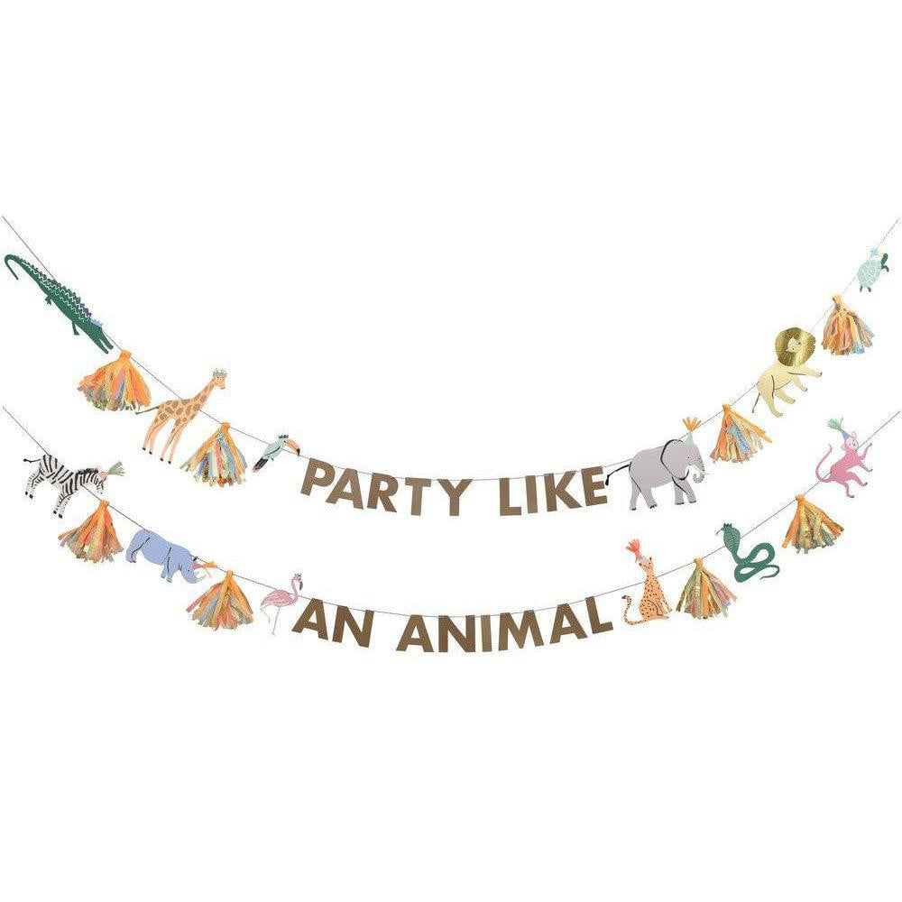 Safari Animals Large Party Garland