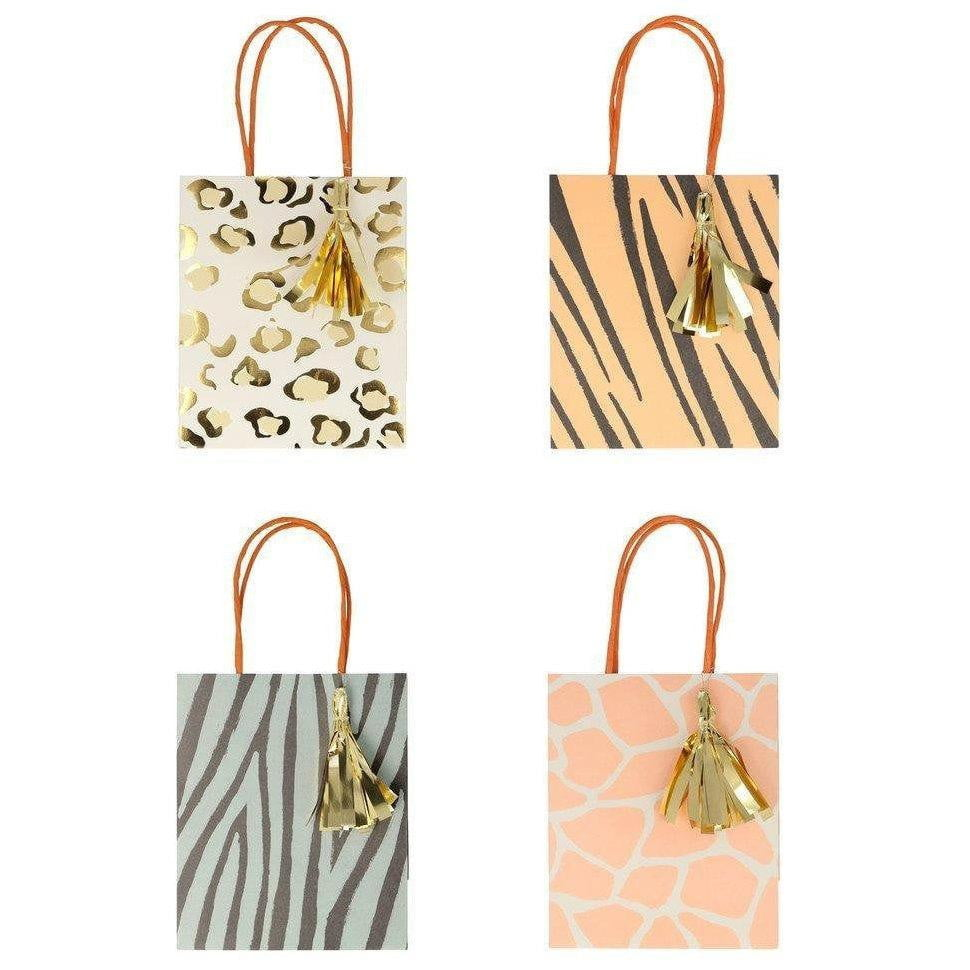 Safari Animal Print Favor Bags