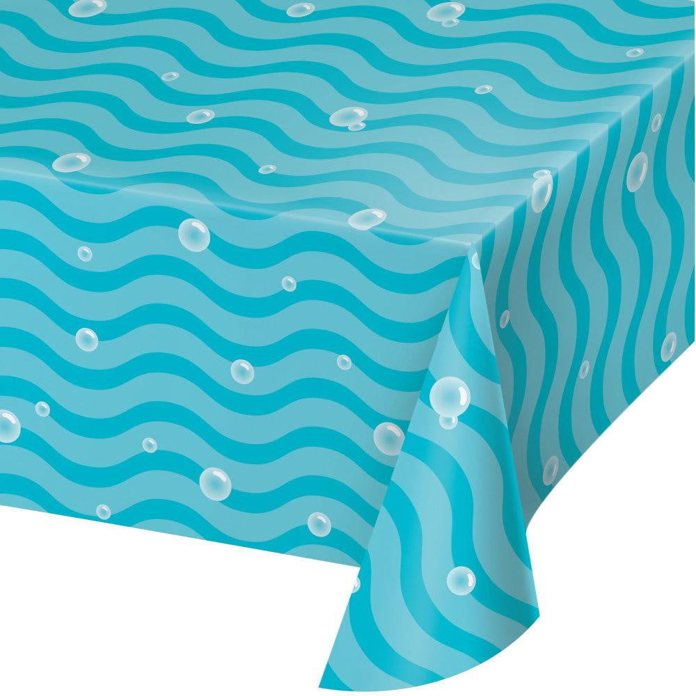 Bubble and Wave Plastic Table Cover