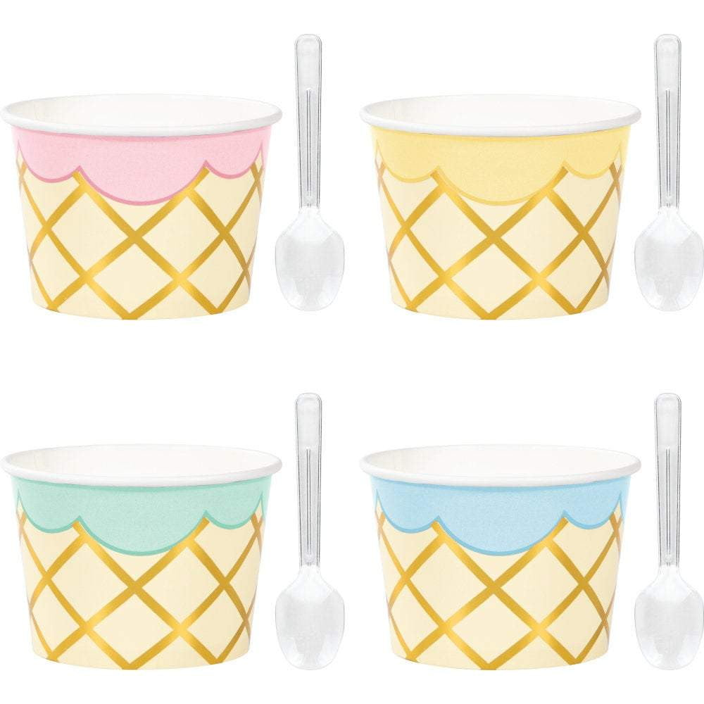 Ice Cream Cup with Spoons