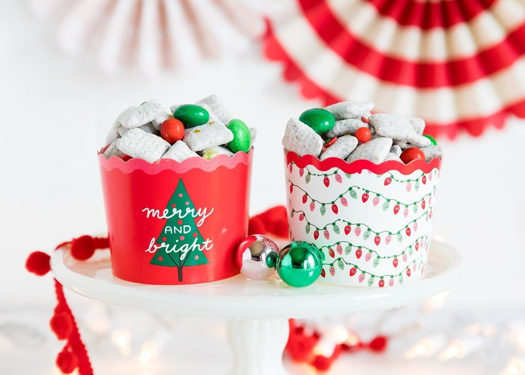 Merry and Bright Christmas Light Baking Cups
