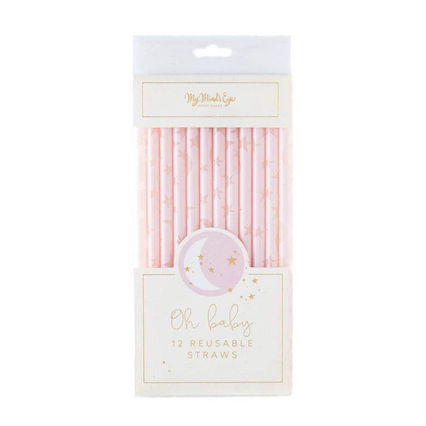 PINK REUSABLE STRAWS
