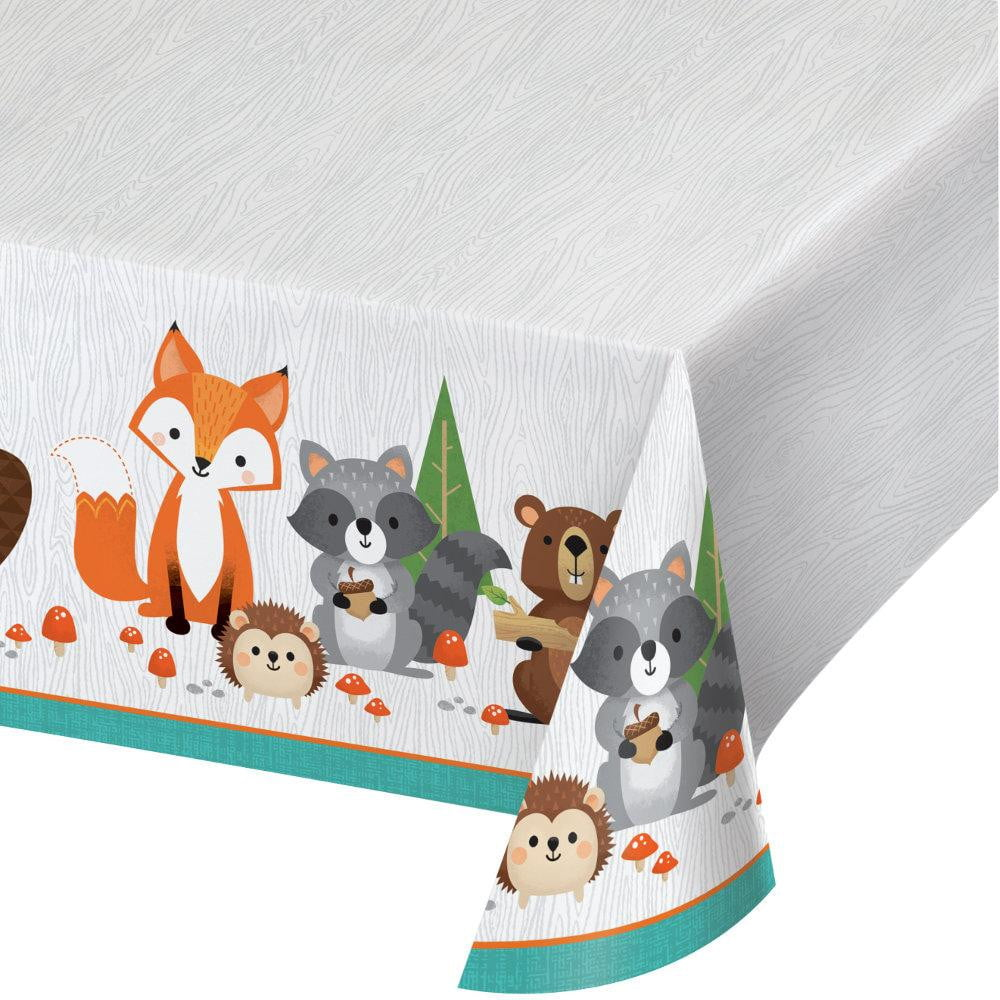 Woodland Animals Plastic Table Cover