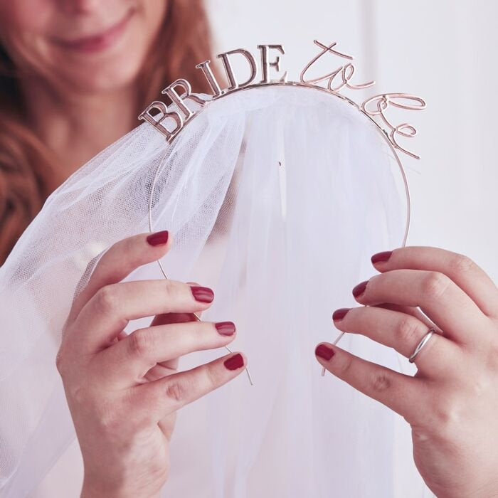 Bride to Be Veil Headband