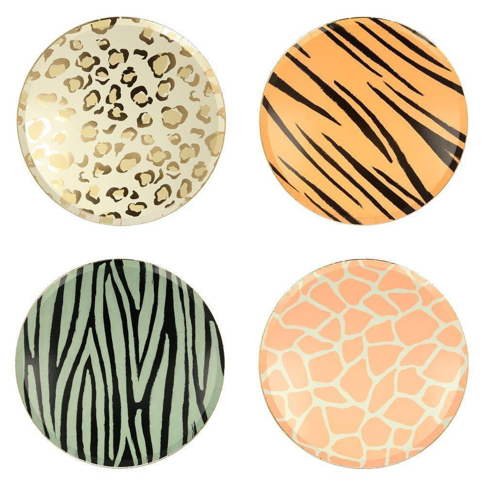 Safari Animal Print Lunch Plates