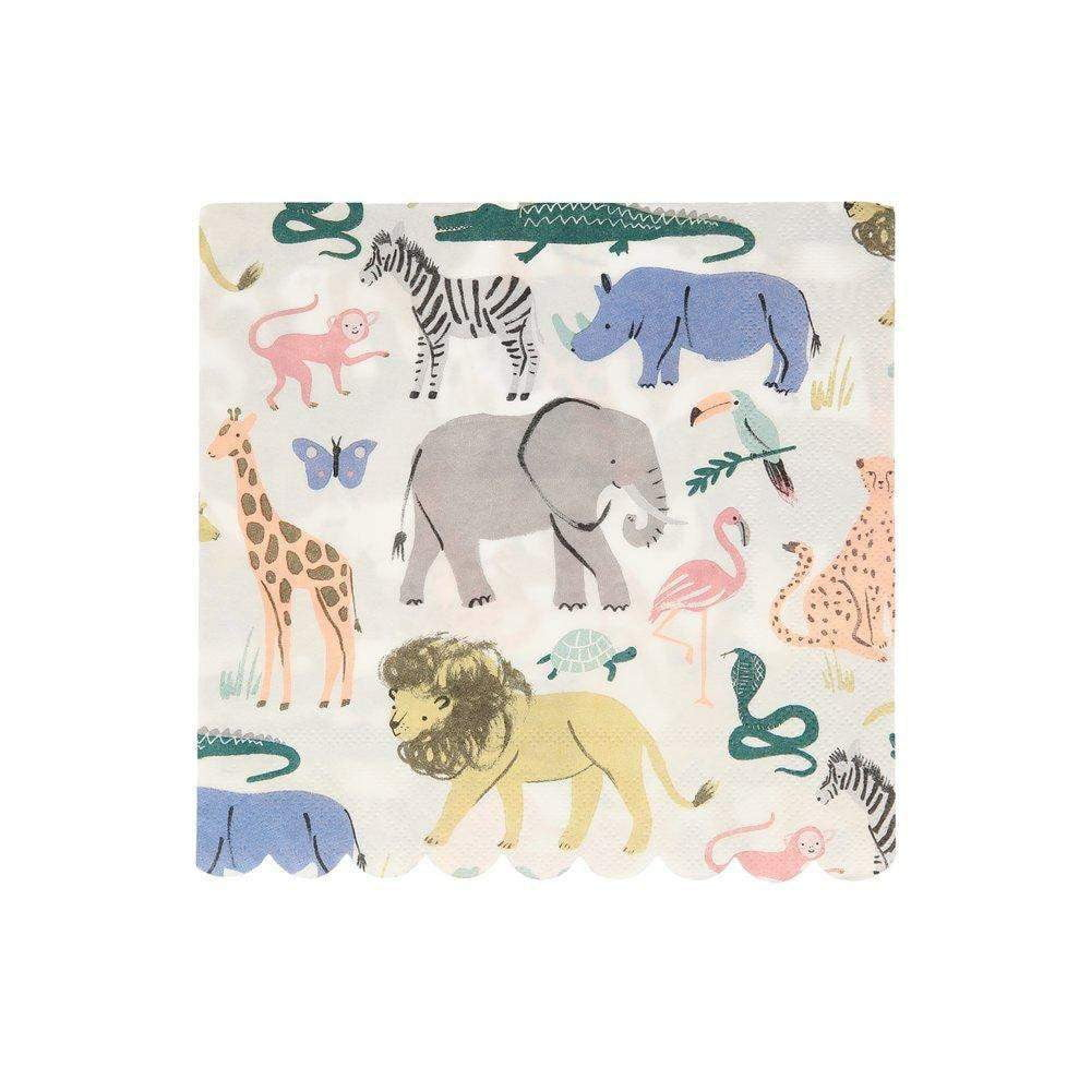 Safari Animals Lunch Napkins