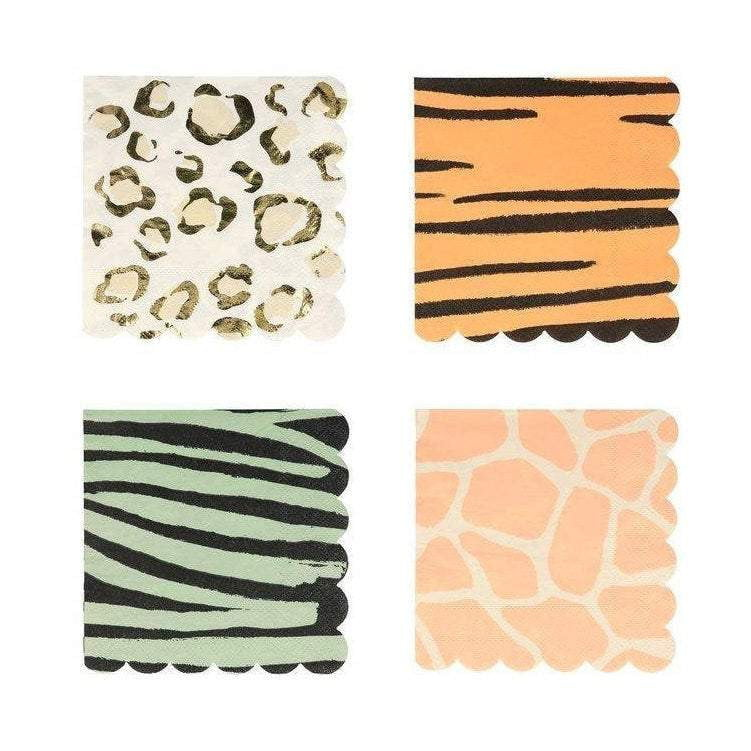 Safari Animal Print Dessert Napkins
