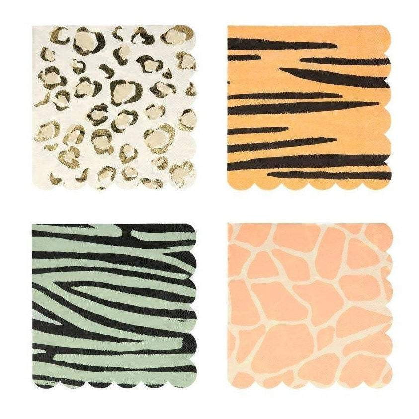 Safari Animal Print Lunch Napkins