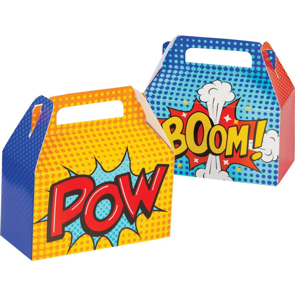 Superhero Comic Favor Boxes