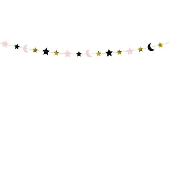 Crescent Moon and Stars Halloween Garland | The Party Darling