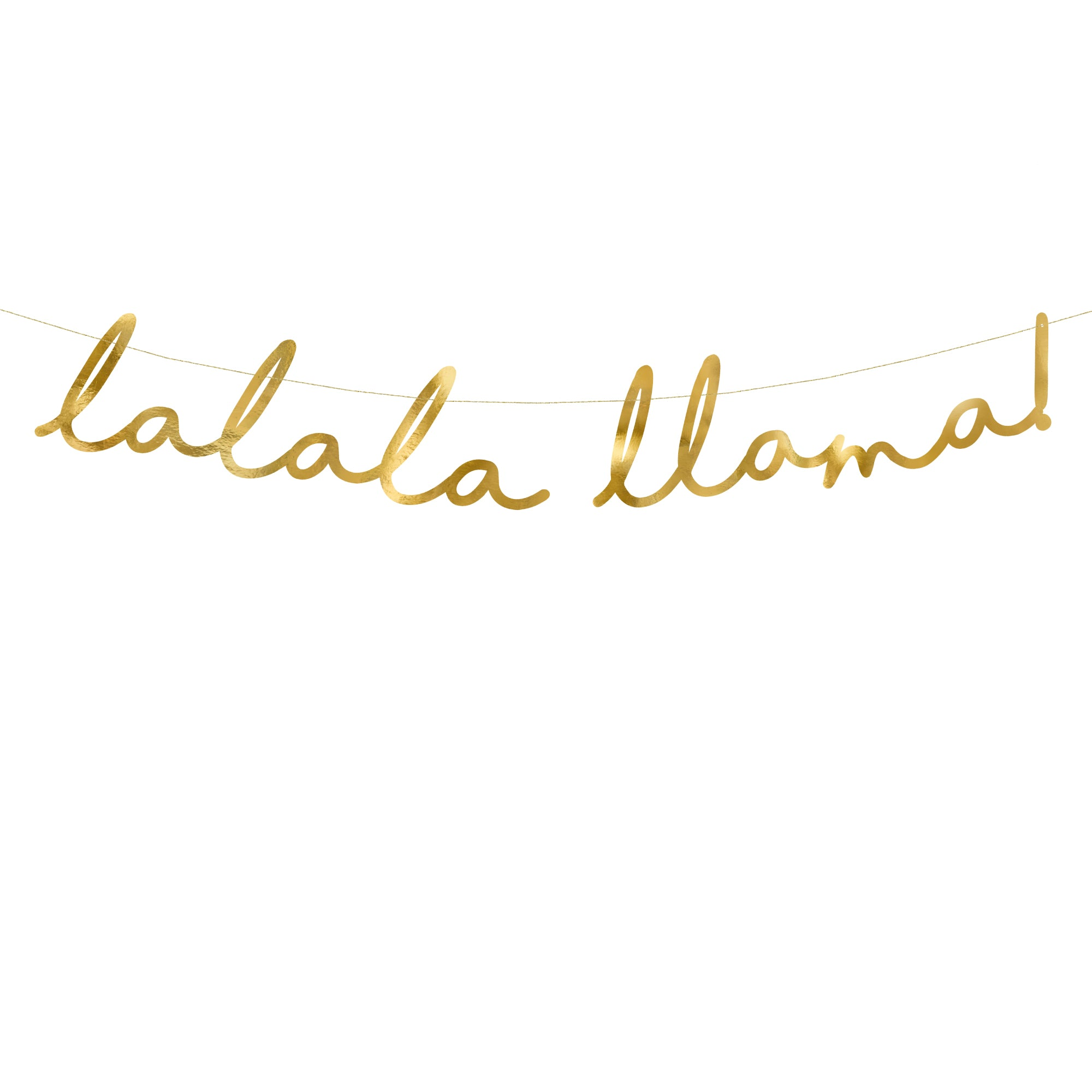 'Lalala Llama' Gold Foil Banner | The Party Darling