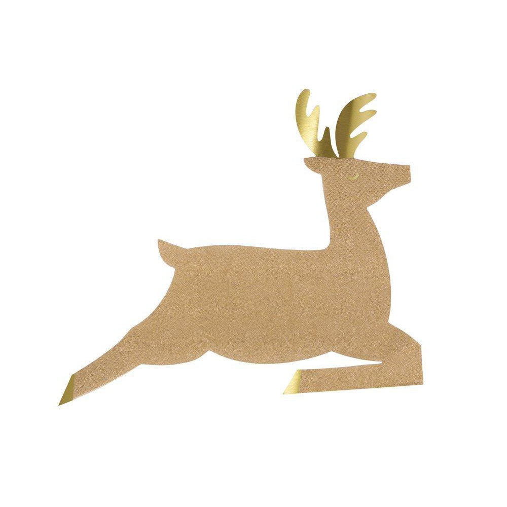 Leaping Reindeer Napkins | The Party Darling