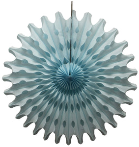 "18"" Light Blue Tissue Paper Fan"