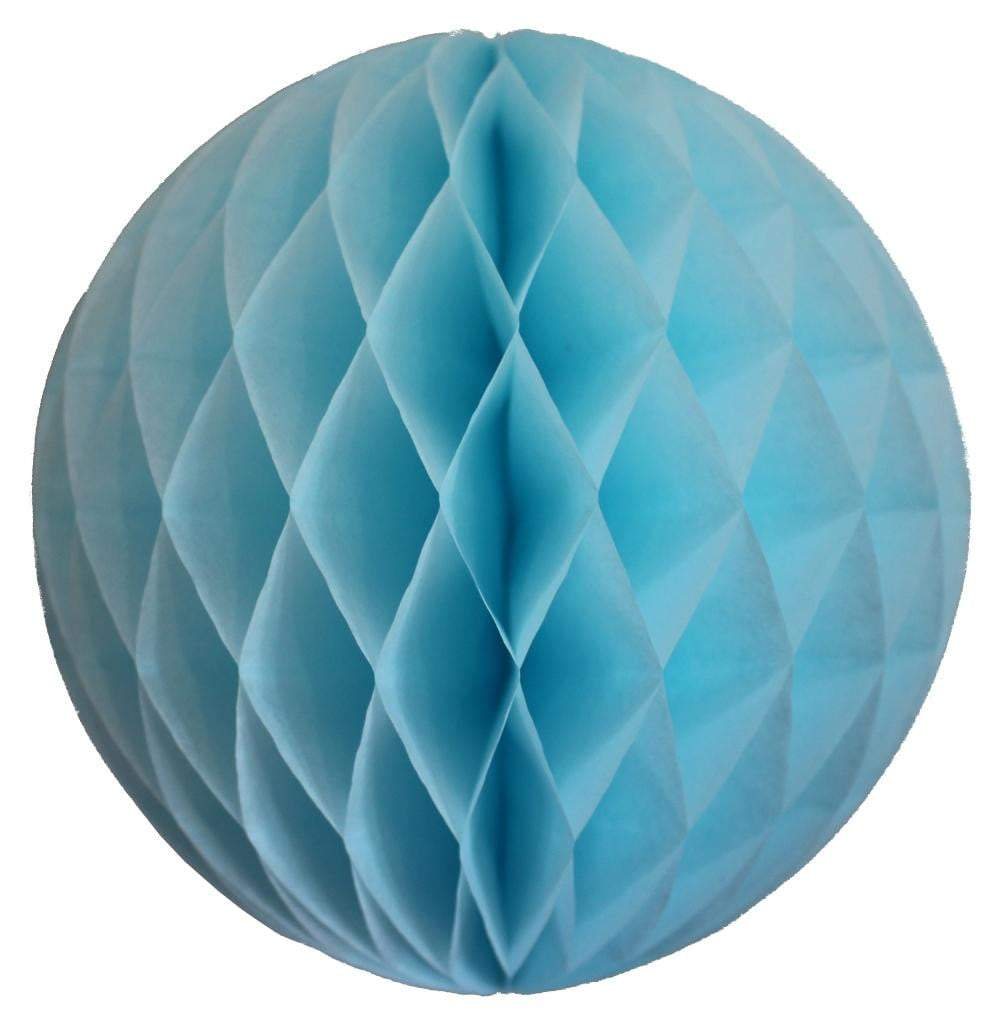 Light Blue Honeycomb Tissue Ball