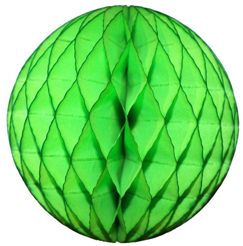 Lime Green Honeycomb Tissue Ball