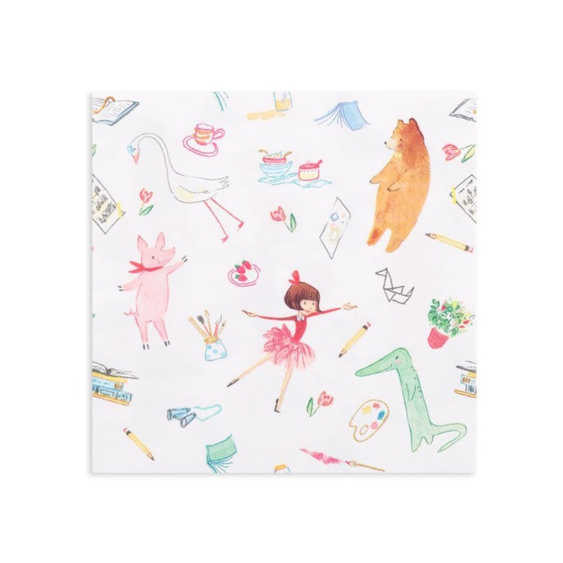 Lola Dutch and Friends Lunch Napkins | The Party Darling
