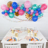 magical rainbow balloon garland