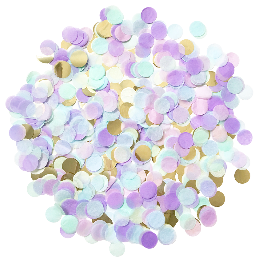 Purple, Light Blue, & Gold Confetti Pack .5oz | The Party Darling