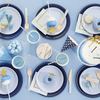True Navy Blue Paper Lunch Plates