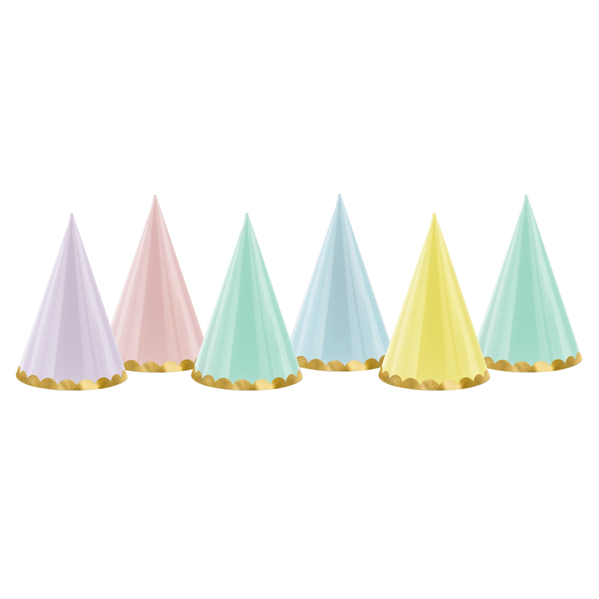 Assorted Pastel Party Hats