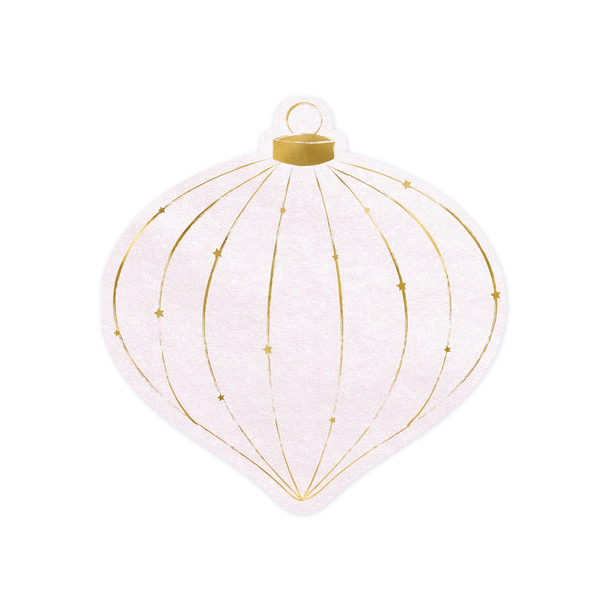 Pink and Gold Bauble Shaped Napkins