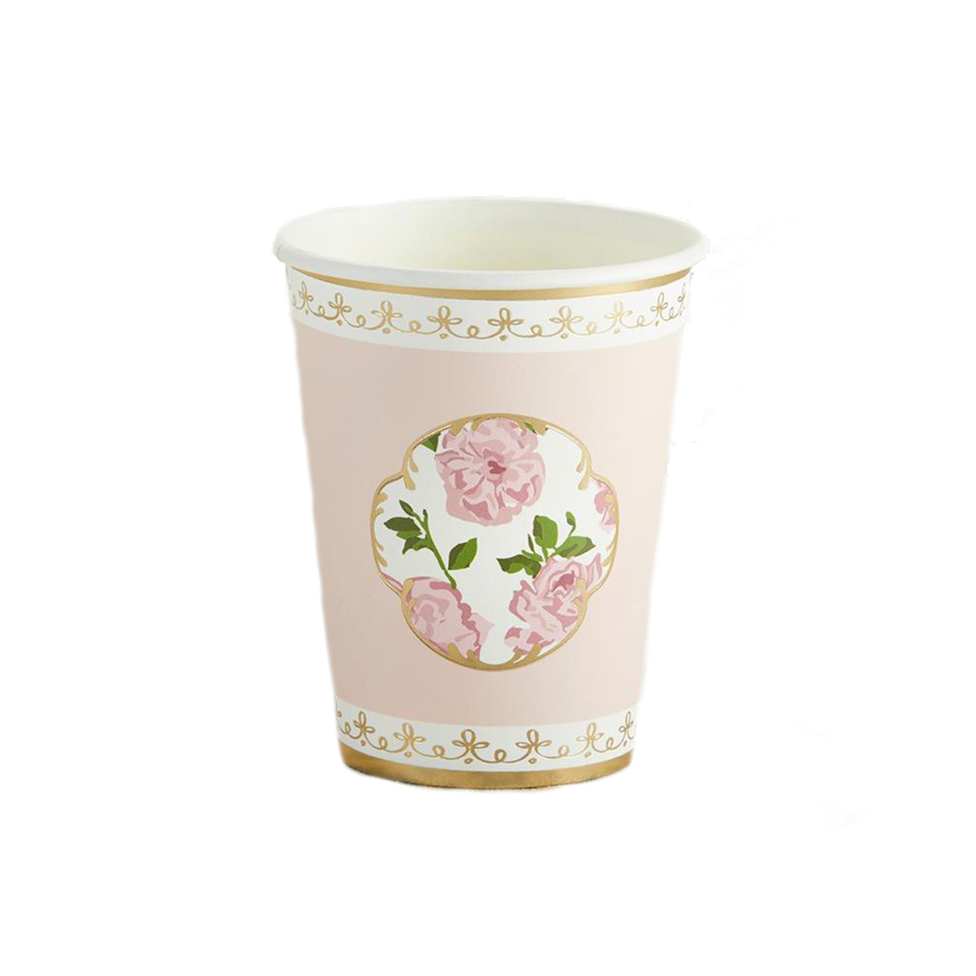 Pink Floral Tea Time Paper Cups | The Party Darling