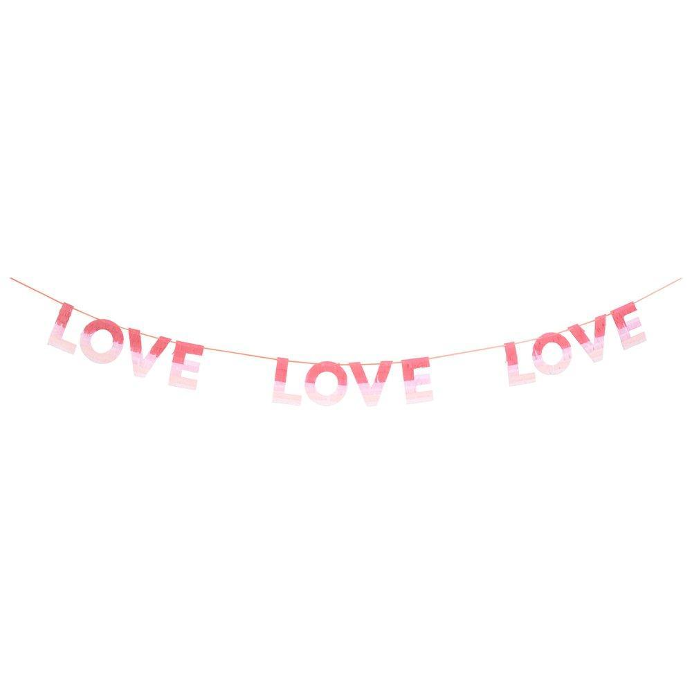 Pink Ombre Love Letter Banner 8ft | The Party Darling