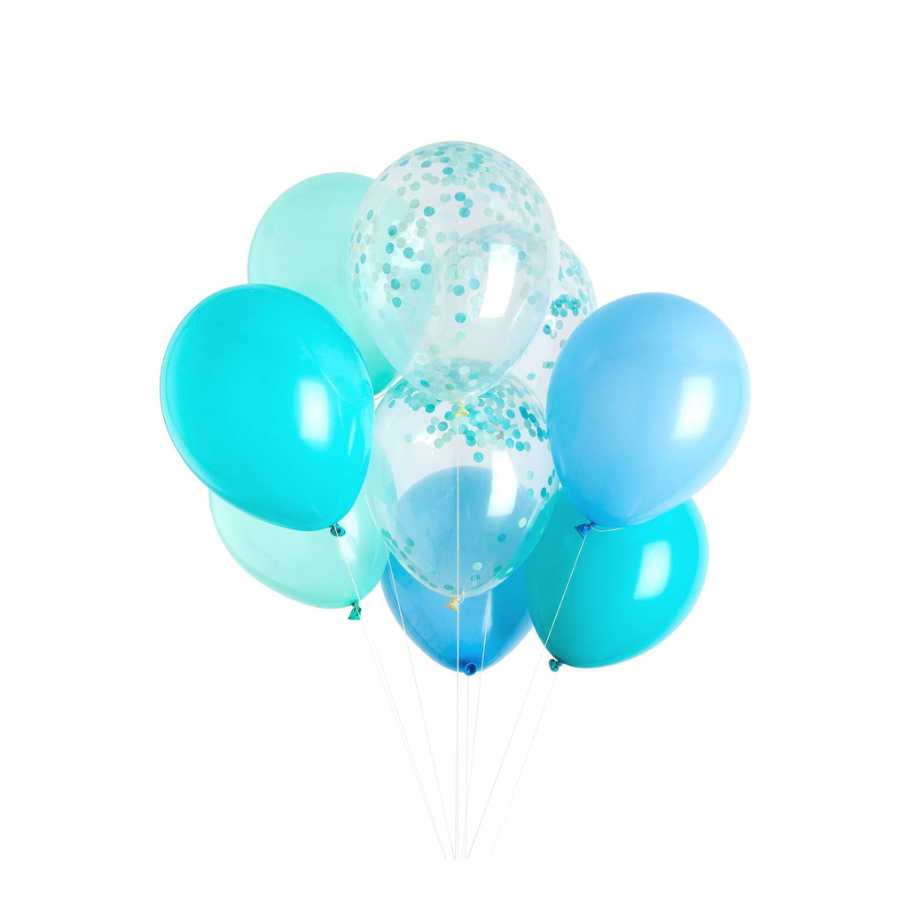 Poolside Blue Classic Balloons