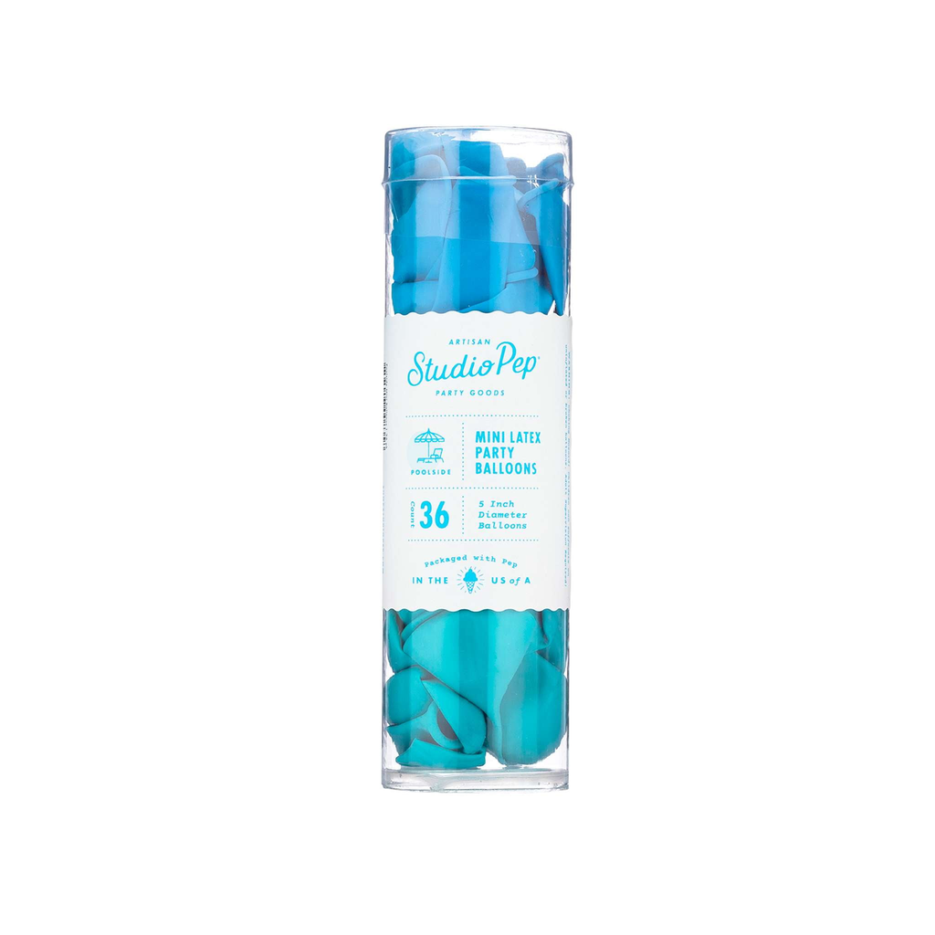 Poolside Blue Mini Balloons Pack