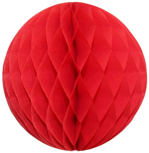 Red Honeycomb Tissue Ball