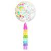 Round Confetti Rainbow Balloon w/ DIY Tassel Tail | The Party Darling