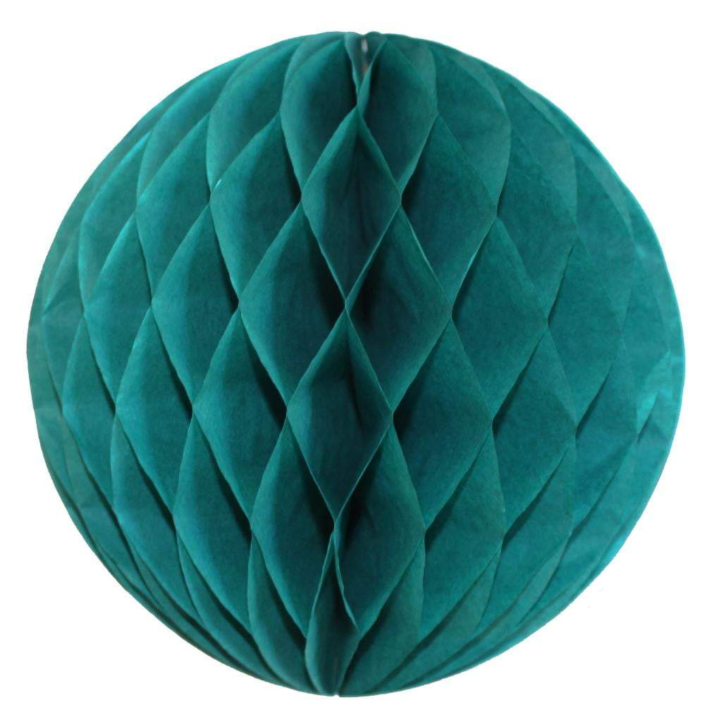 Teal Honeycomb Tissue Ball